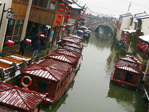 Suzhou boats on the canal